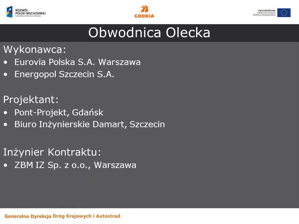 Obwodnica Olecka Wykonawca: Projektant: Inżynier Kontraktu: