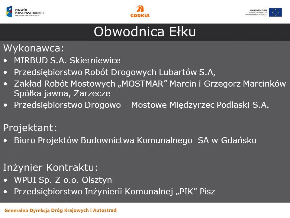 Obwodnica Ełku Wykonawca: Projektant: Inżynier Kontraktu: