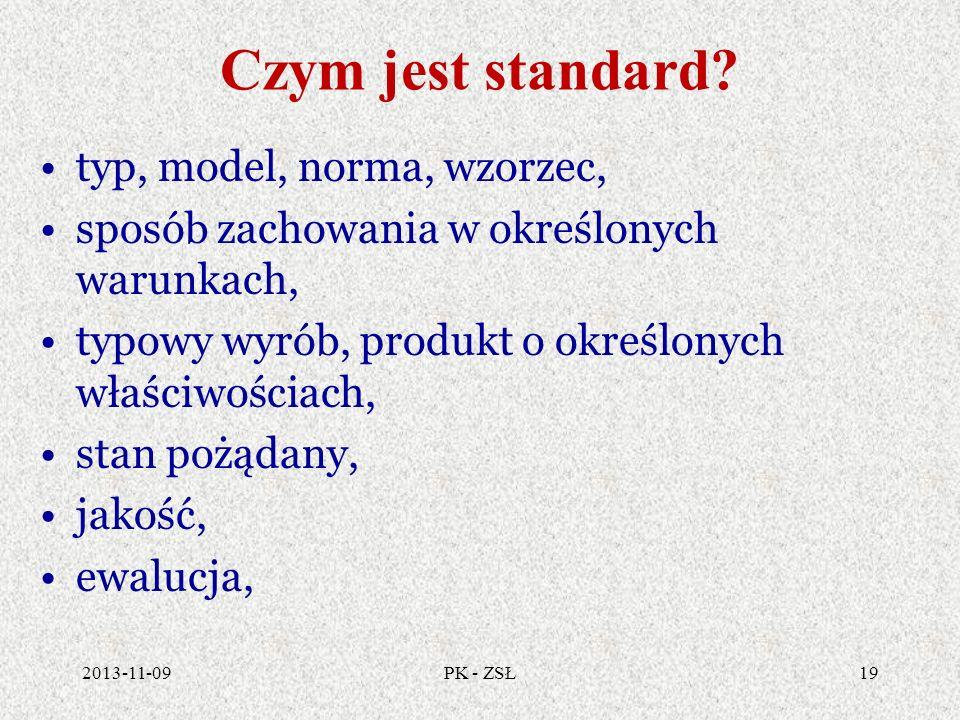 Czym jest standard typ, model, norma, wzorzec,