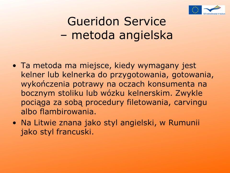 Gueridon Service – metoda angielska