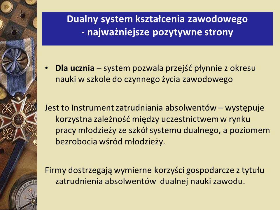 Dualny system kształcenia zawodowego - najważniejsze pozytywne strony