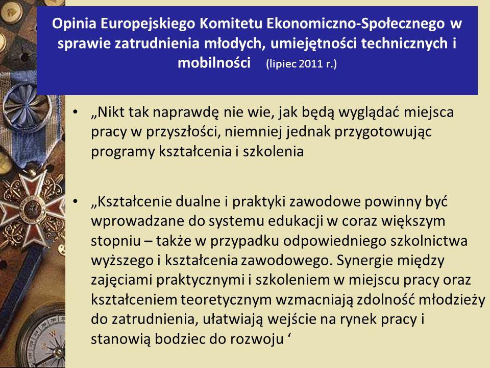 Opinia Europejskiego Komitetu Ekonomiczno-Społecznego w sprawie zatrudnienia młodych, umiejętności technicznych i mobilności (lipiec 2011 r.)