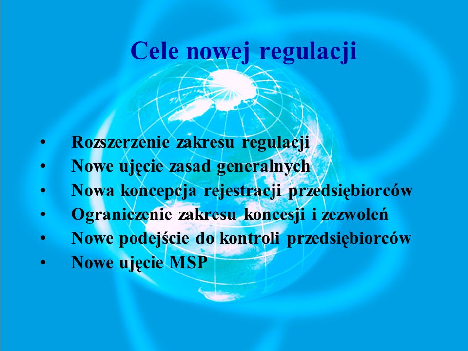 Rozszerzenie zakresu regulacji Nowe ujęcie zasad generalnych
