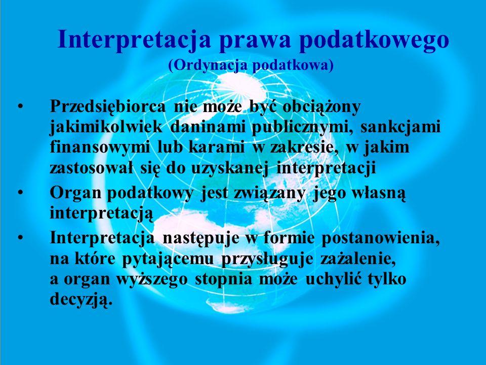 Interpretacja prawa podatkowego (Ordynacja podatkowa)