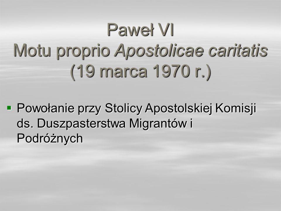 Paweł VI Motu proprio Apostolicae caritatis (19 marca 1970 r.)
