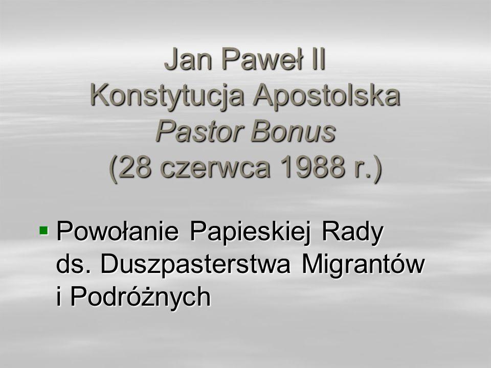 Jan Paweł II Konstytucja Apostolska Pastor Bonus (28 czerwca 1988 r.)