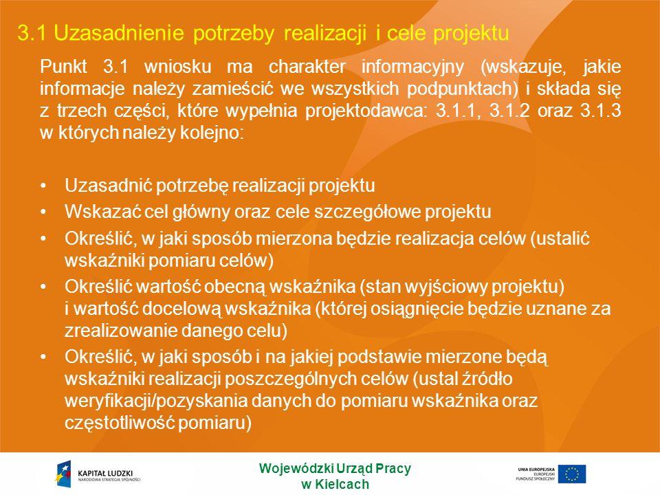 3.1 Uzasadnienie potrzeby realizacji i cele projektu
