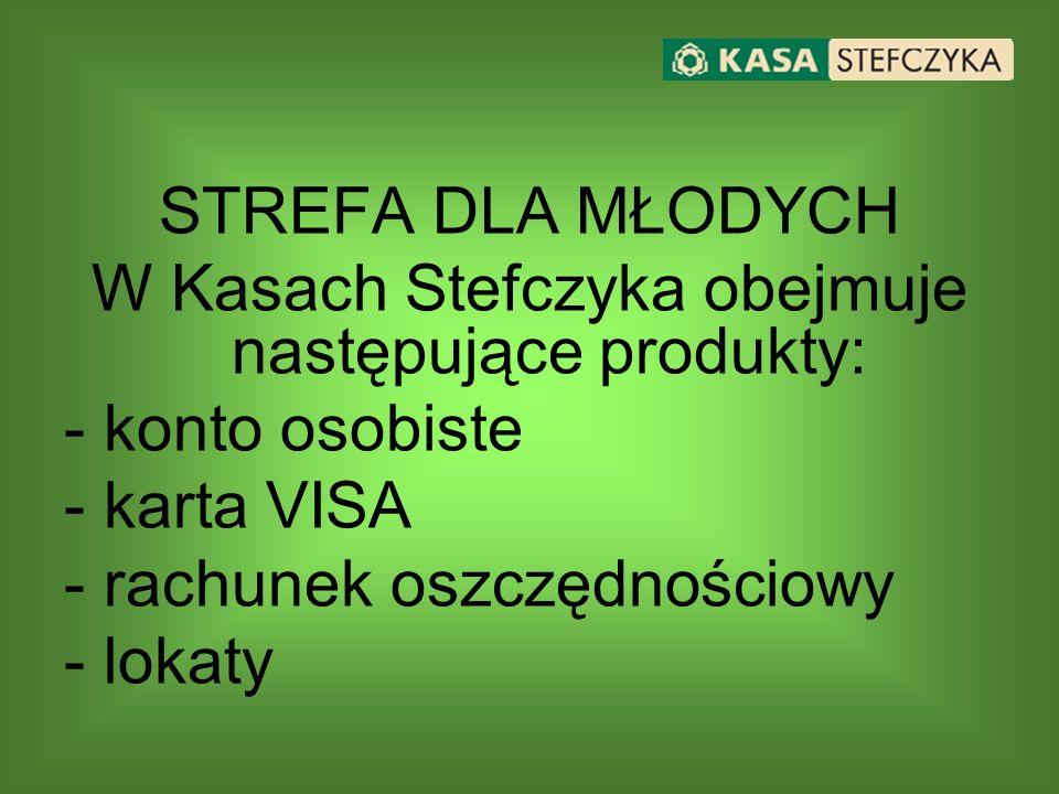 W Kasach Stefczyka obejmuje następujące produkty: