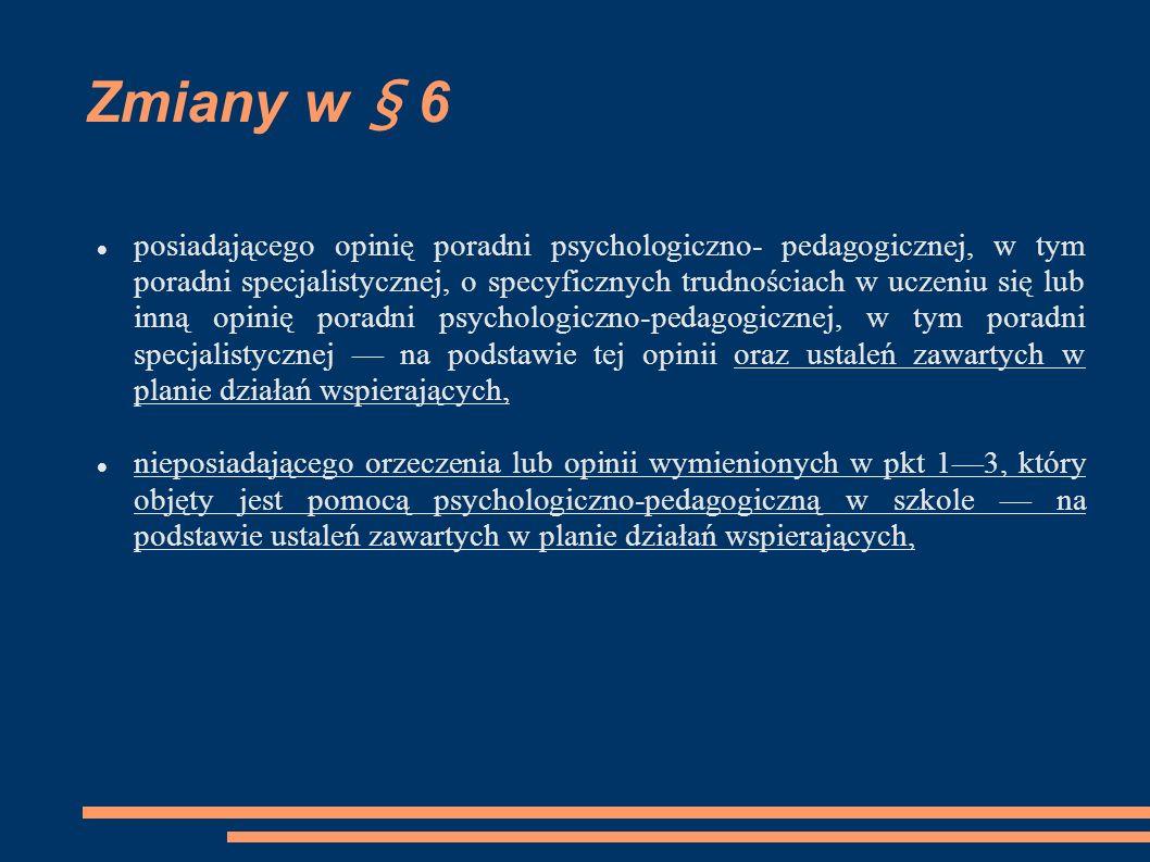 Zmiany w § 6