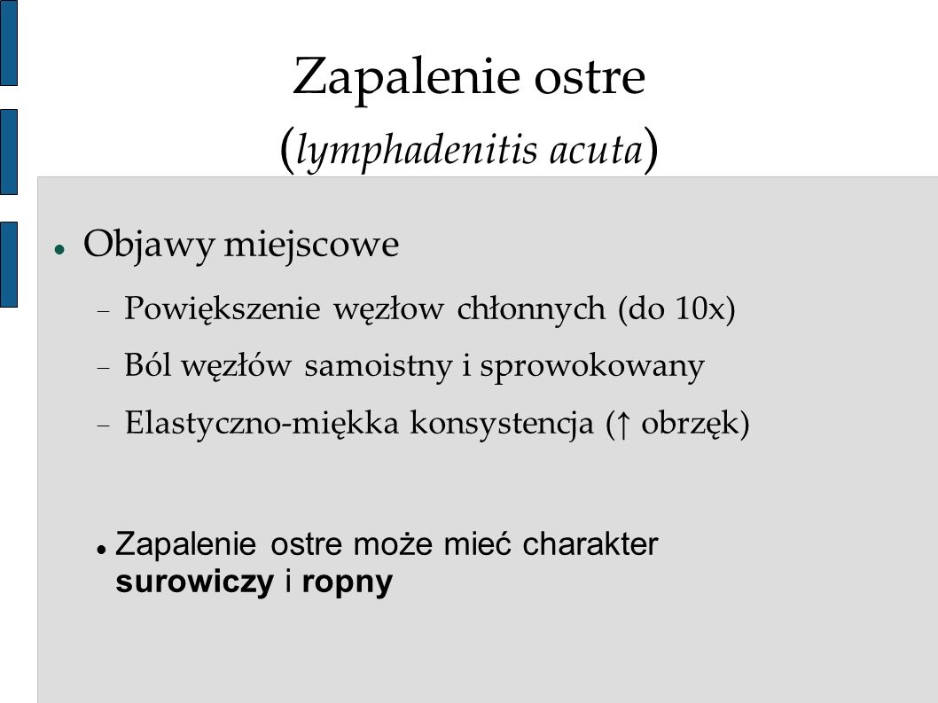 Zapalenie ostre (lymphadenitis acuta)