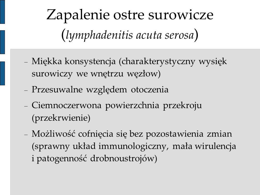 Zapalenie ostre surowicze (lymphadenitis acuta serosa)