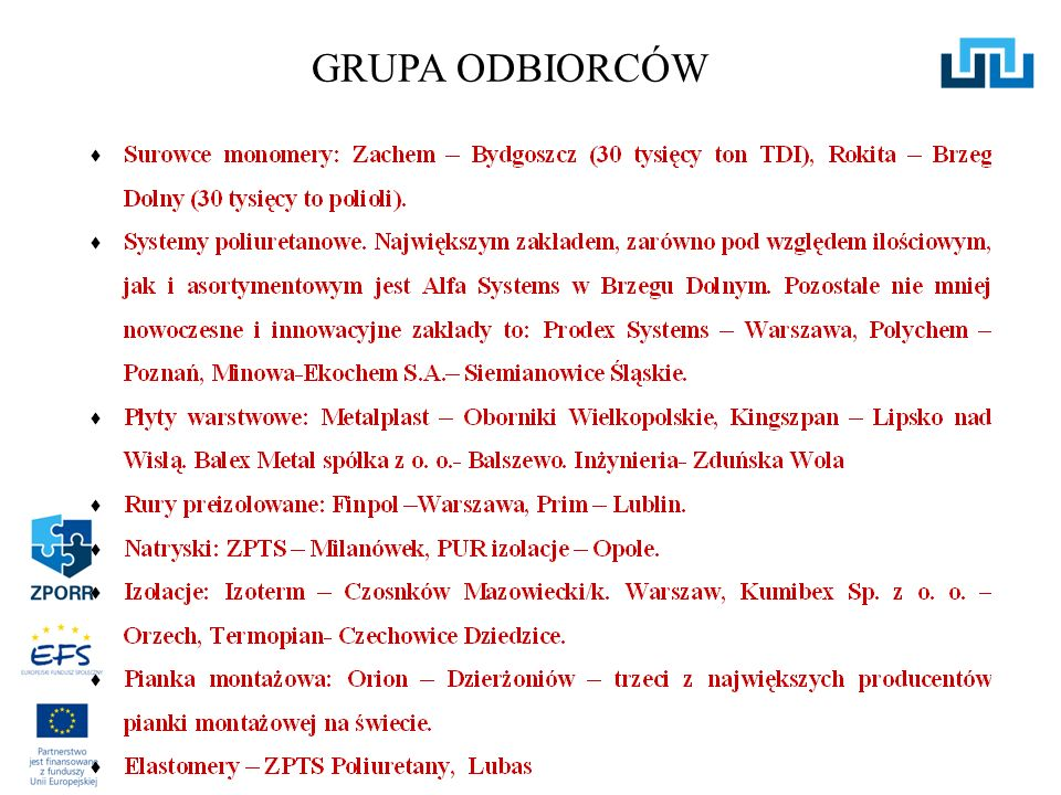GRUPA ODBIORCÓW