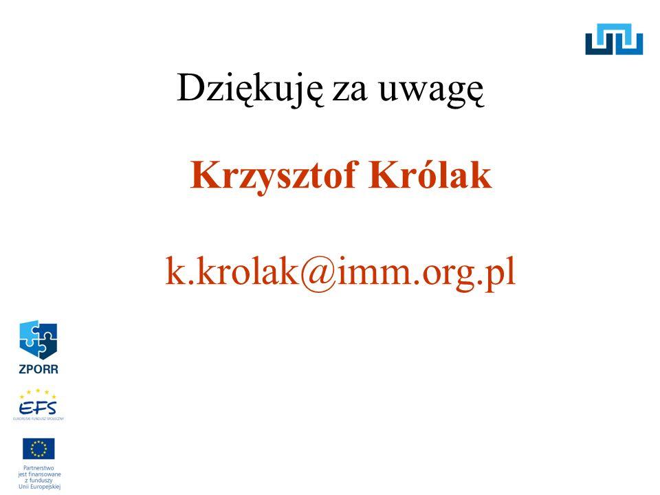 Krzysztof Królak k.krolak@imm.org.pl