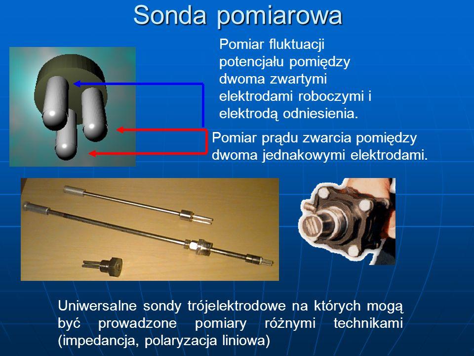 Sonda pomiarowa Pomiar fluktuacji potencjału pomiędzy dwoma zwartymi elektrodami roboczymi i elektrodą odniesienia.