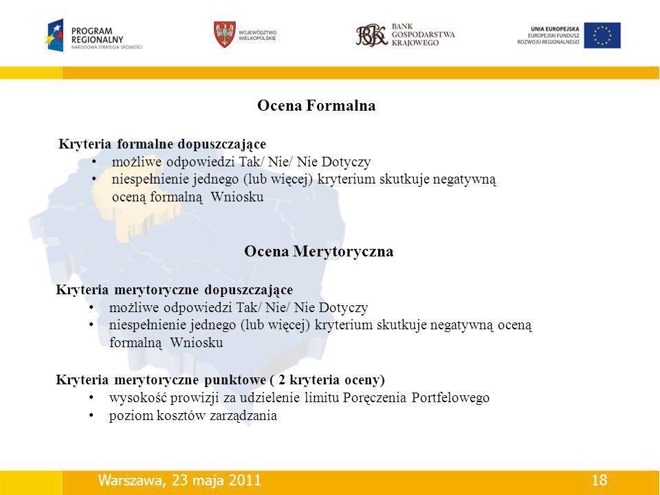 Ocena Formalna Ocena Merytoryczna