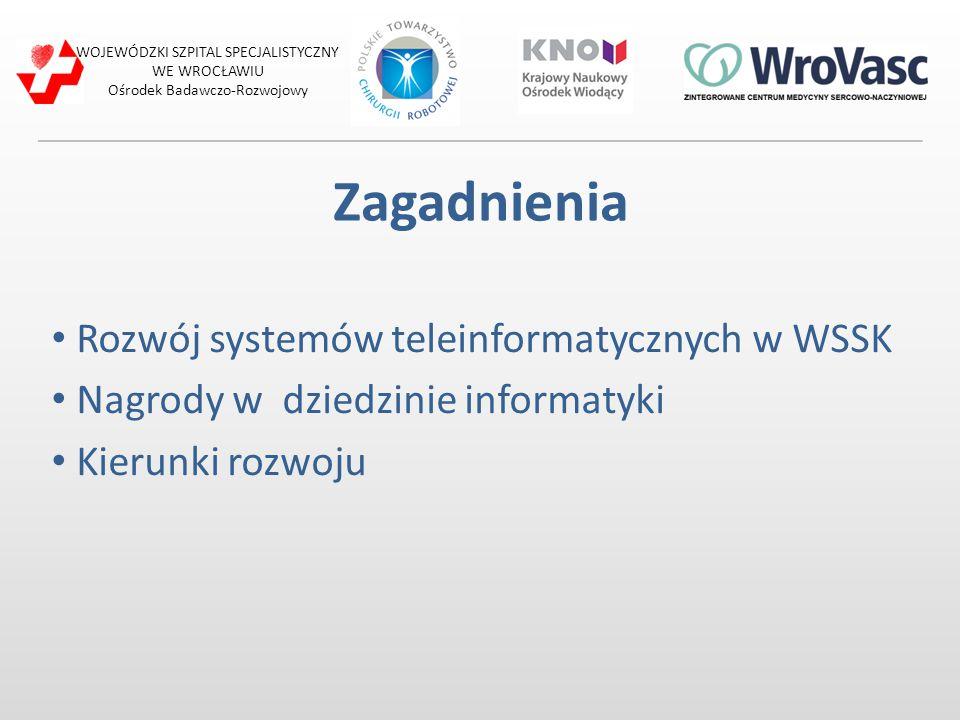 Zagadnienia Rozwój systemów teleinformatycznych w WSSK