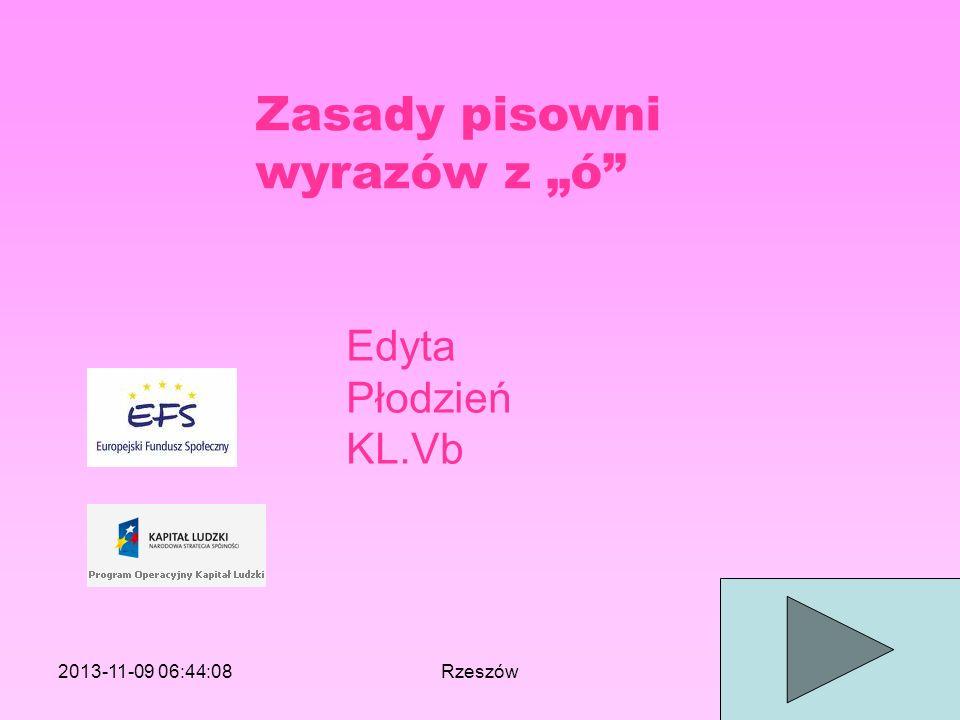 """Zasady pisowni wyrazów z """"ó"""