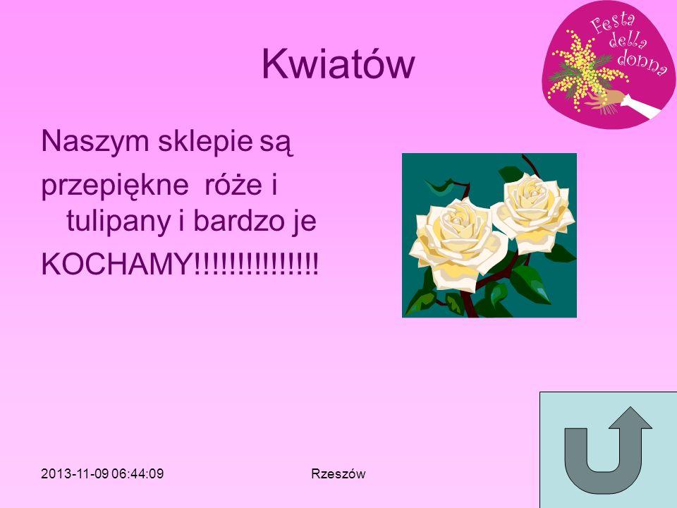 Kwiatów Naszym sklepie są przepiękne róże i tulipany i bardzo je