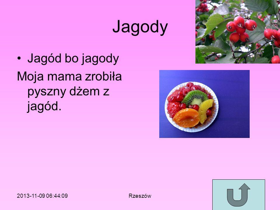 Jagody Jagód bo jagody Moja mama zrobiła pyszny dżem z jagód.