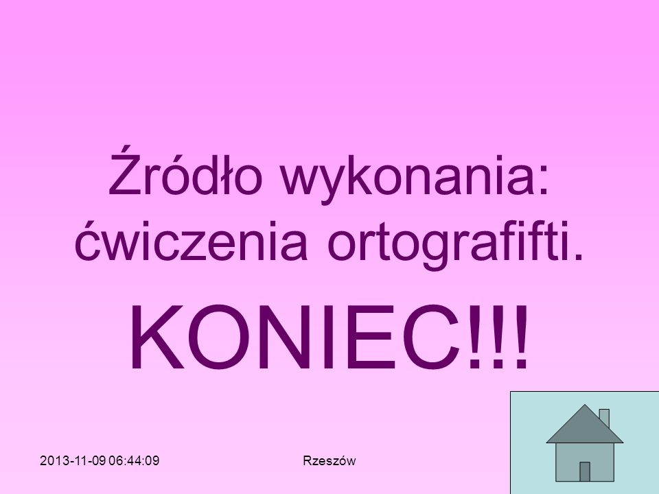 Źródło wykonania: ćwiczenia ortografifti.