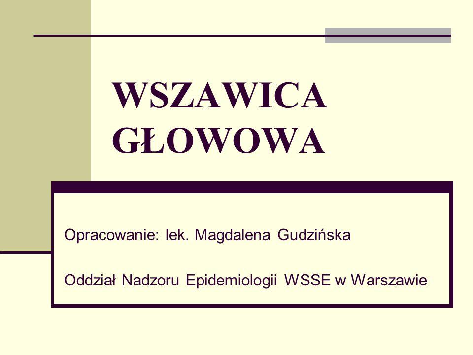 WSZAWICA GŁOWOWA Opracowanie: lek. Magdalena Gudzińska