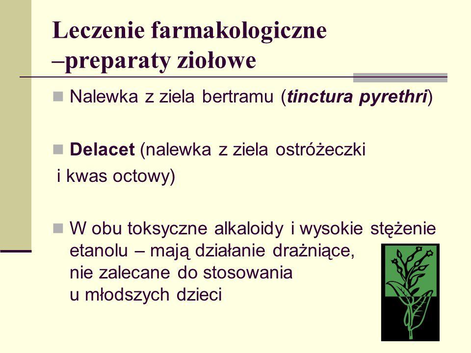 Leczenie farmakologiczne –preparaty ziołowe