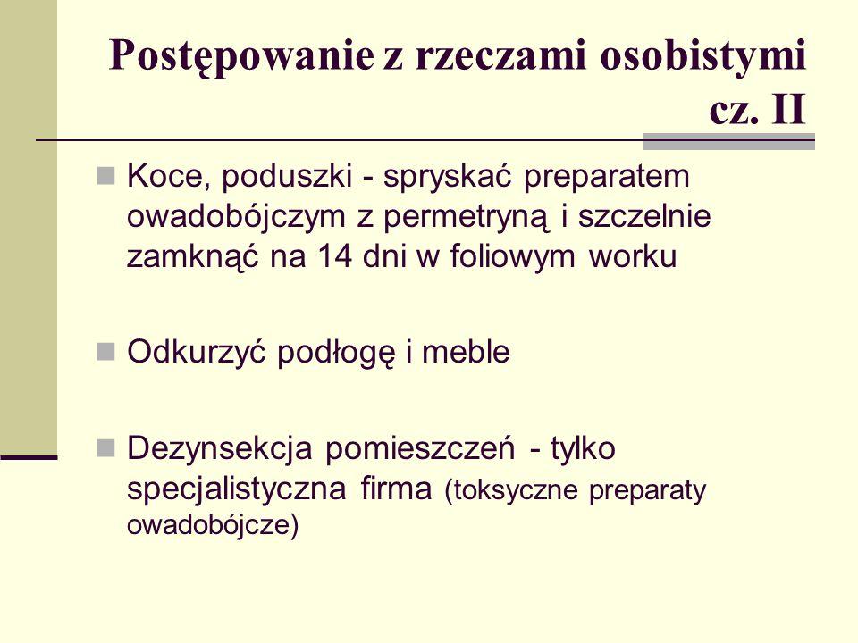 Postępowanie z rzeczami osobistymi cz. II