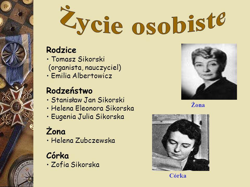 Życie osobiste Rodzice Rodzeństwo Żona Córka Tomasz Sikorski