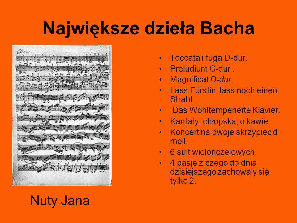 Największe dzieła Bacha