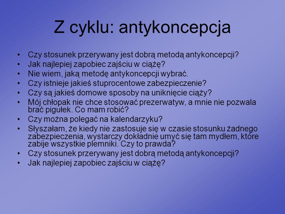 Z cyklu: antykoncepcja