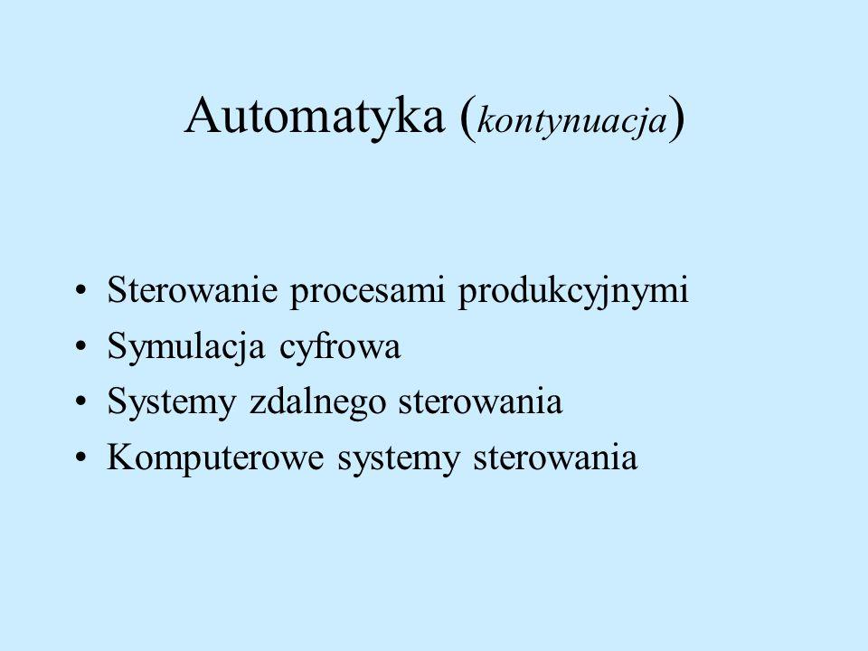 Automatyka (kontynuacja)