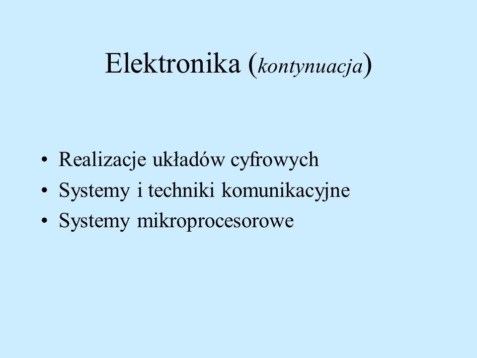 Elektronika (kontynuacja)