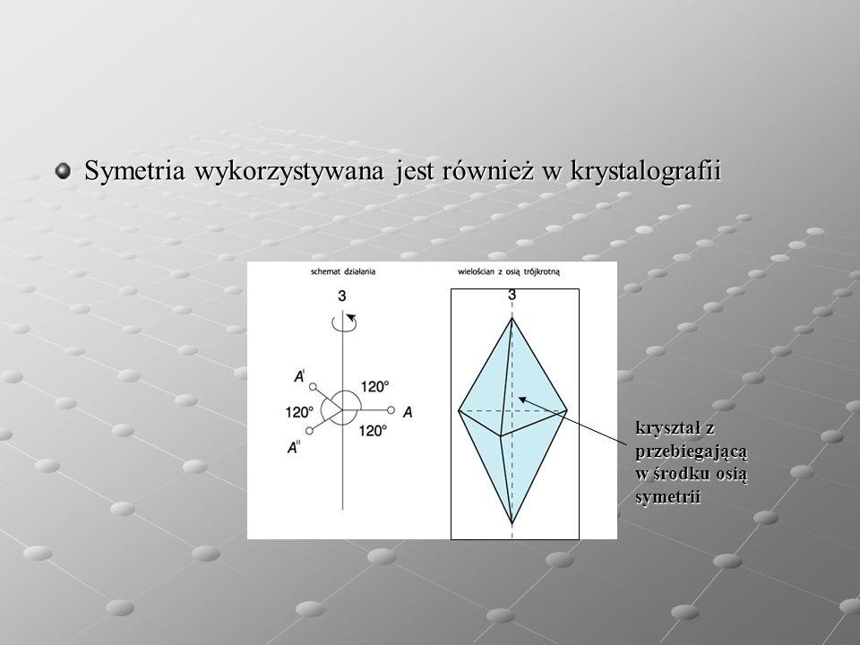 Symetria wykorzystywana jest również w krystalografii