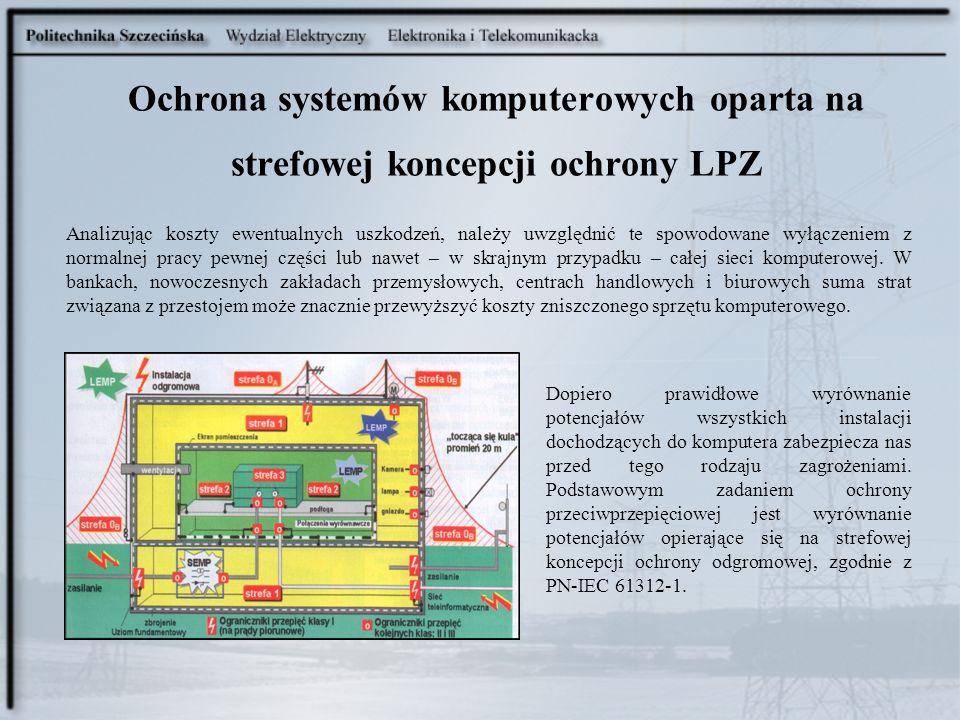 Ochrona systemów komputerowych oparta na strefowej koncepcji ochrony LPZ