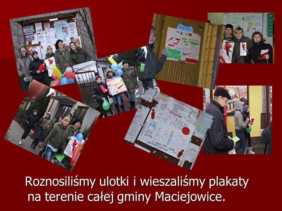 Roznosiliśmy ulotki i wieszaliśmy plakaty na terenie całej gminy Maciejowice.