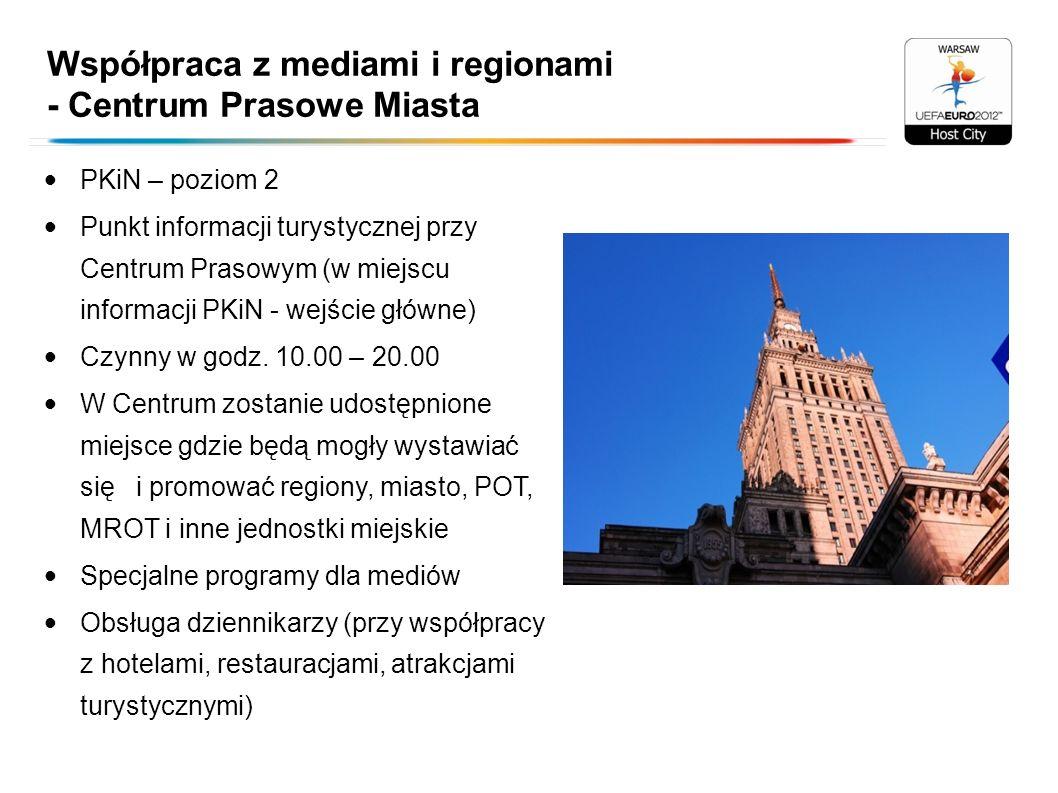 Współpraca z mediami i regionami - Centrum Prasowe Miasta