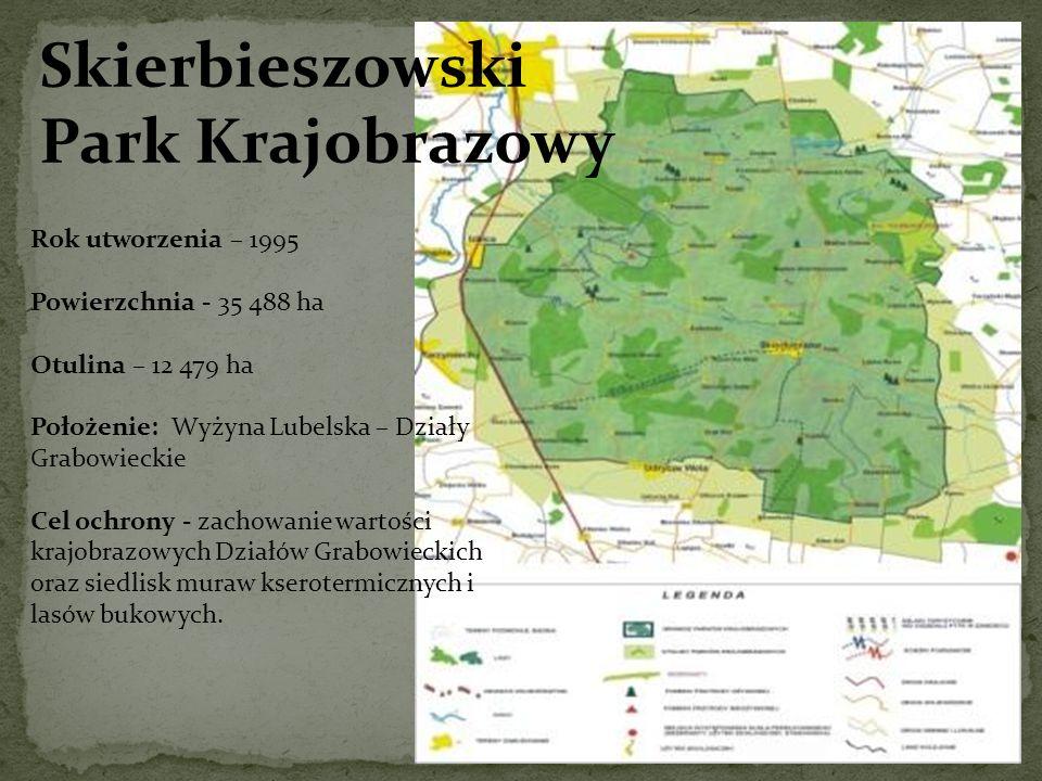 Skierbieszowski Park Krajobrazowy Rok utworzenia – 1995
