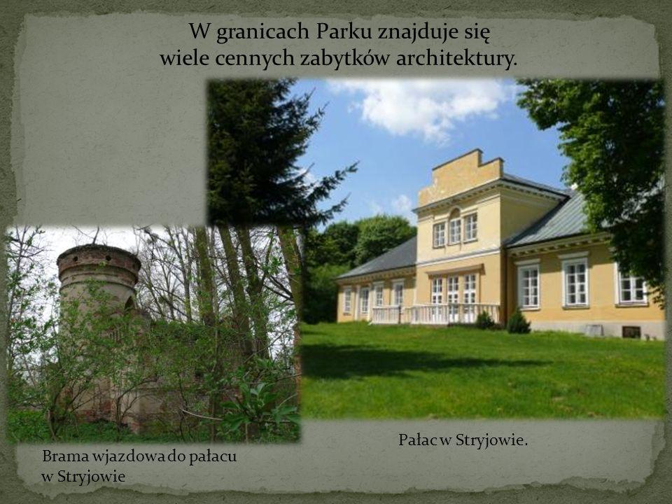 W granicach Parku znajduje się wiele cennych zabytków architektury.