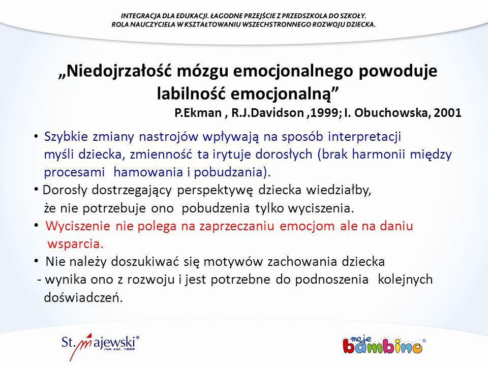 """""""Niedojrzałość mózgu emocjonalnego powoduje labilność emocjonalną"""