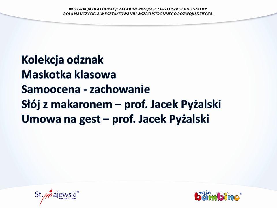 Samoocena - zachowanie Słój z makaronem – prof. Jacek Pyżalski