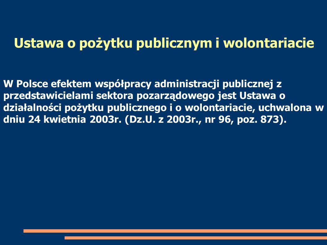 Ustawa o pożytku publicznym i wolontariacie