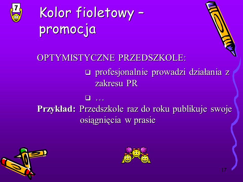 Kolor fioletowy – promocja