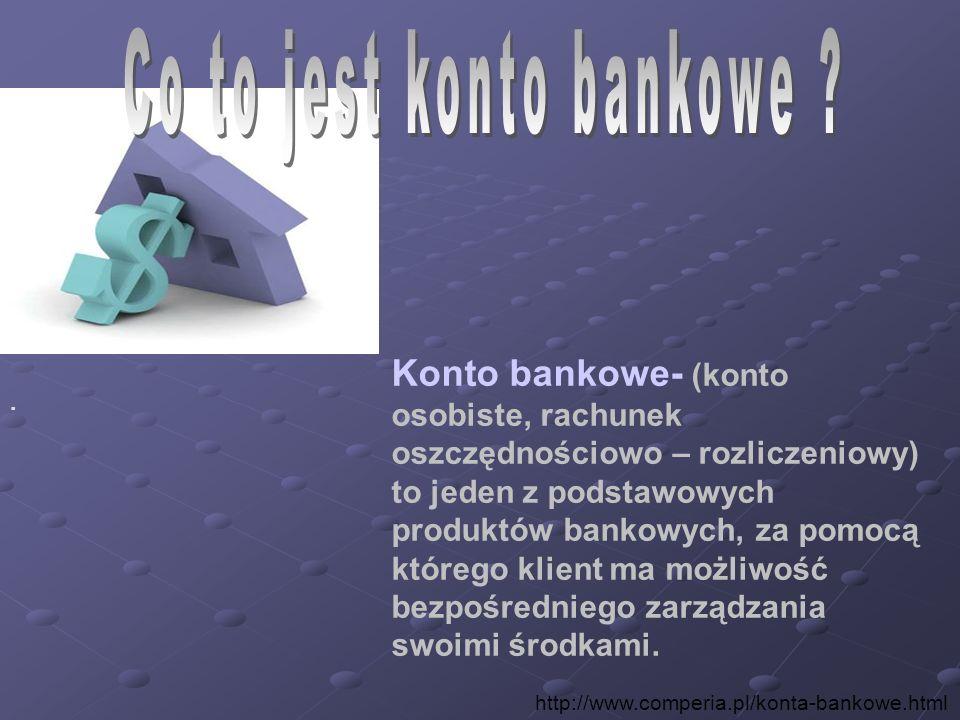 Co to jest konto bankowe