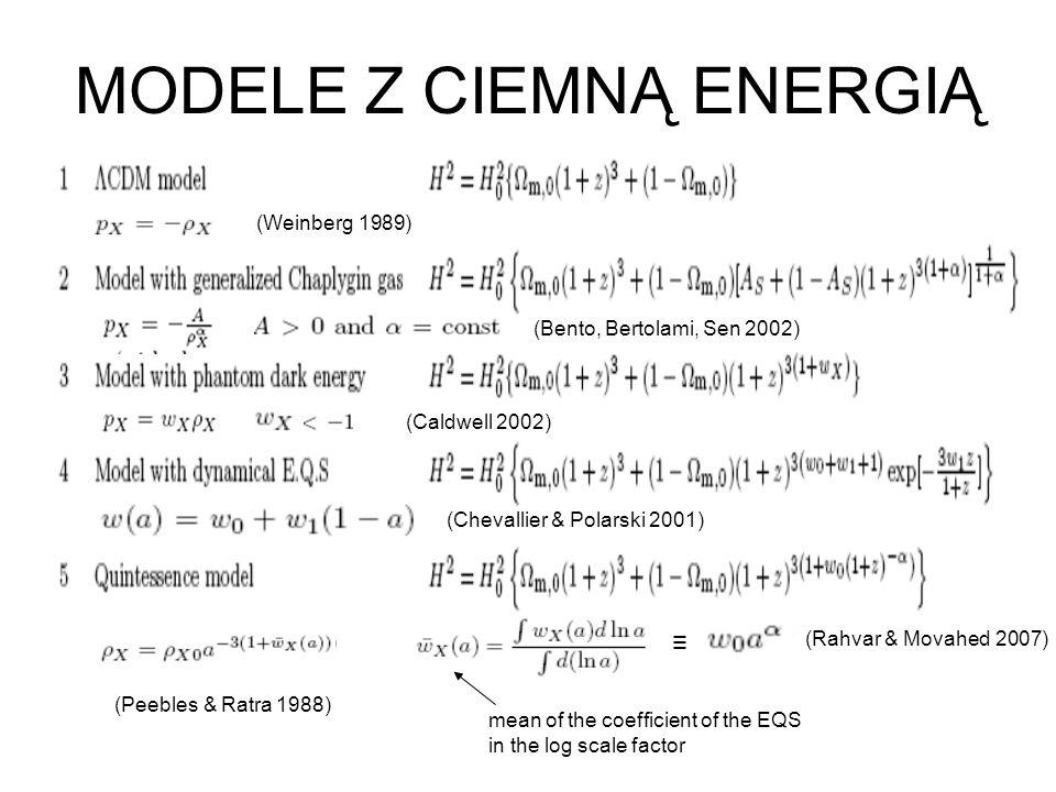 MODELE Z CIEMNĄ ENERGIĄ