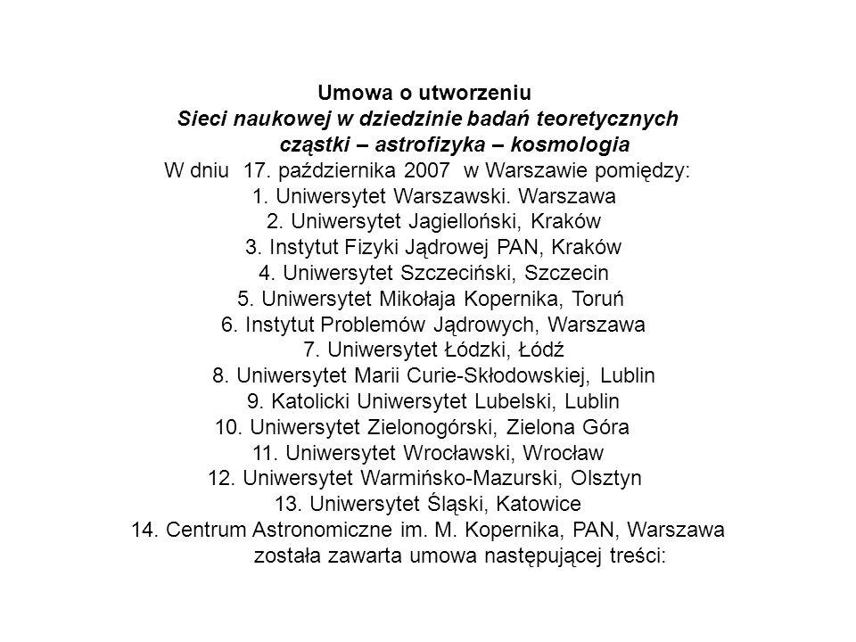 Sieci naukowej w dziedzinie badań teoretycznych