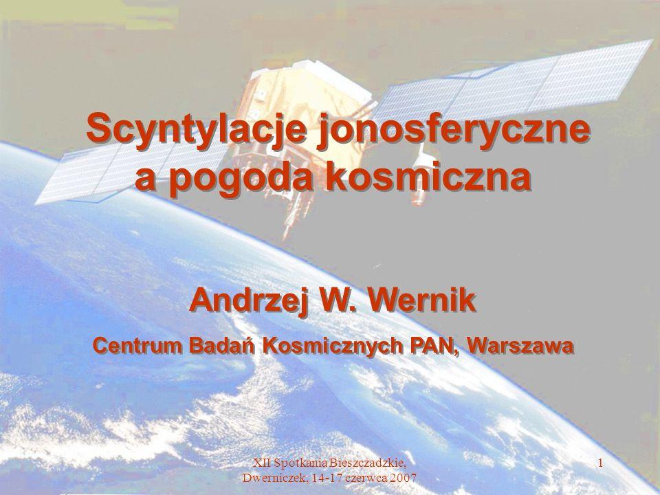 Scyntylacje jonosferyczne a pogoda kosmiczna