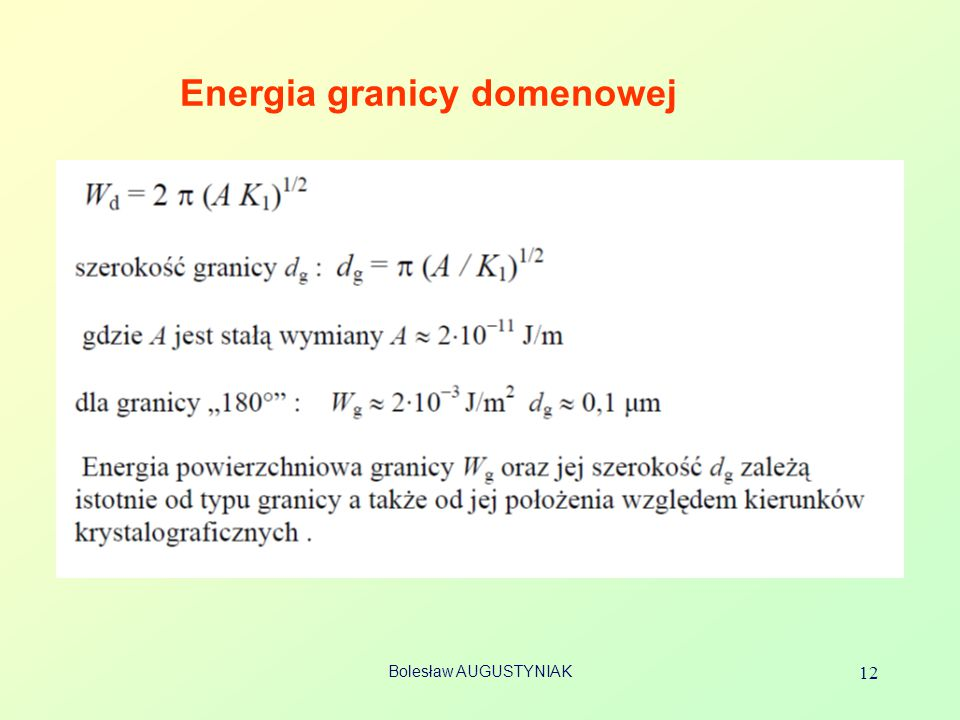 Energia granicy domenowej