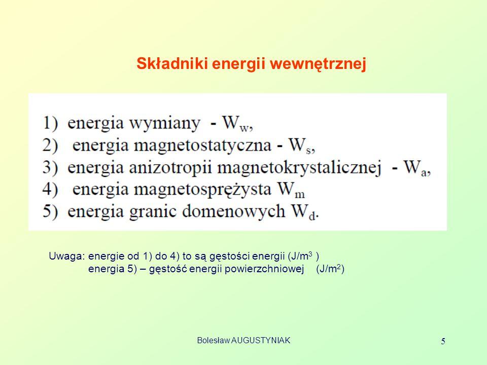 Składniki energii wewnętrznej