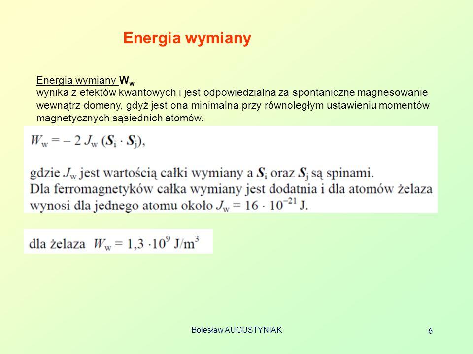 Energia wymiany Energia wymiany Ww
