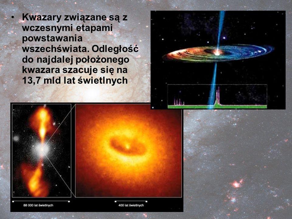 Kwazary związane są z wczesnymi etapami powstawania wszechświata